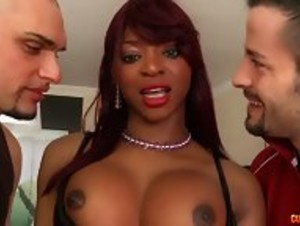 Blue-Eyed Brit Ebony Chick enjoys her MFM - HD