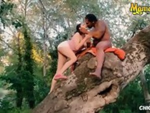 Interracial Public Sex In The Park Ft. Ms. DiCaprio! - HD